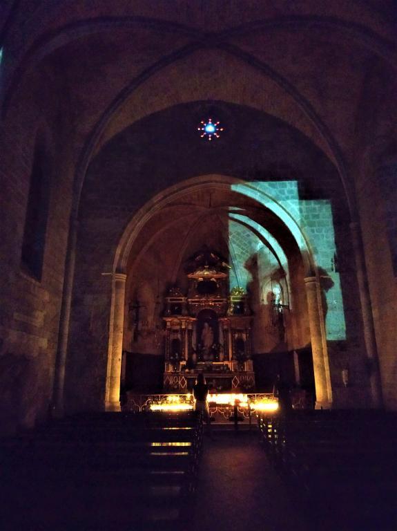 Montée de la Chapelle, Moustiers, Août